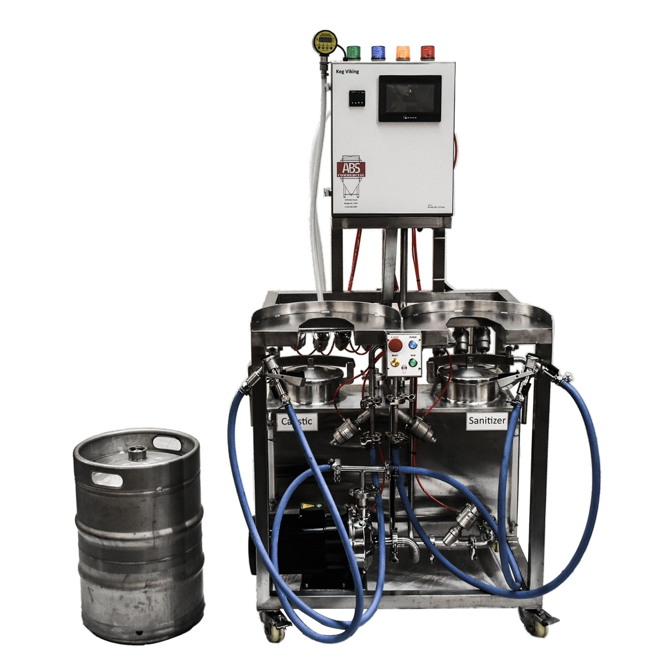 keg washer, keg viking, commercial keg washer, abs commercial